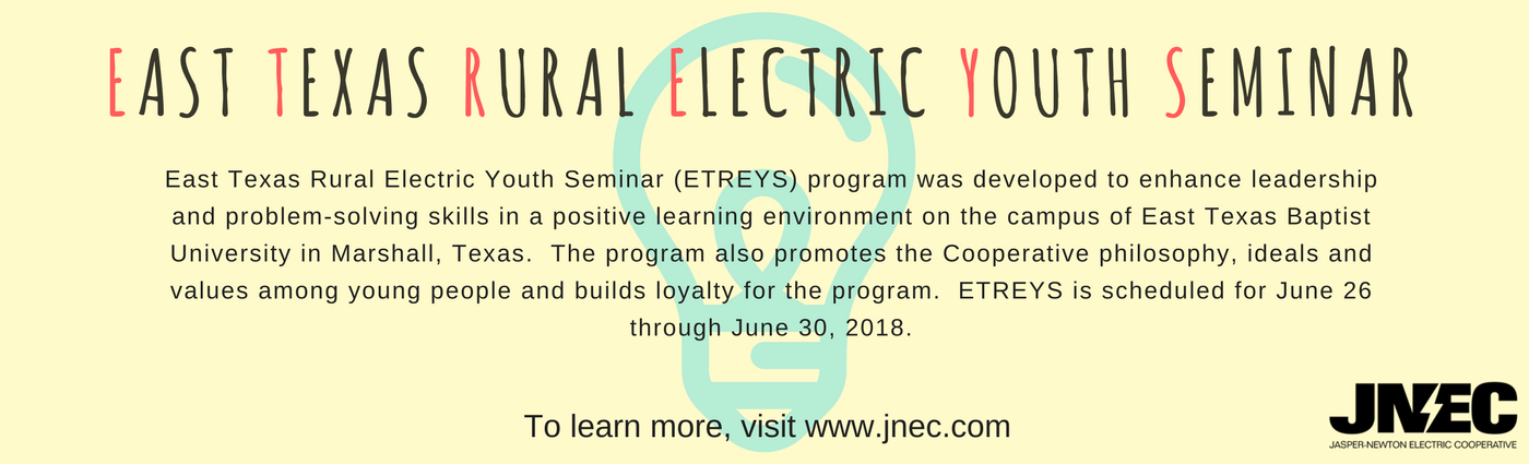 information about East Texas Rural Electric Youth Seminar
